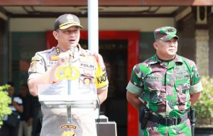 Apel Pergeseran Pasukan Jelang Pemilu 2019 Polres Malang