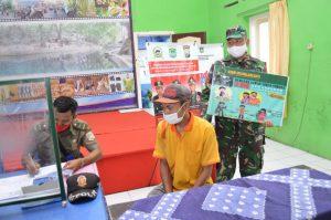 Koramil 0818/20 Tajinan Intensifkan Operasi Yustisi Wajib Masker