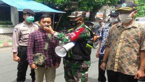 Koramil 0833/01 Klojen Gelar Patroli Gabungan Operasi Yustisi Wajib Masker