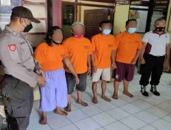 Gegara Judi Dadu Empat Warga Wonosari Pagu 'Digulung' Polisi
